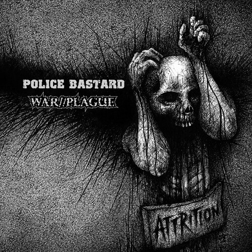 Police Bastard / War//Plague - Attrition (Vinyl LP) 546x546 Cover art