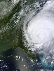 Hurricane Irene off the Carolinas