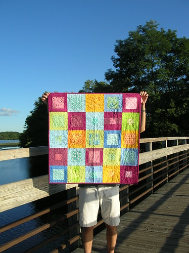 Mosiac baby quilt