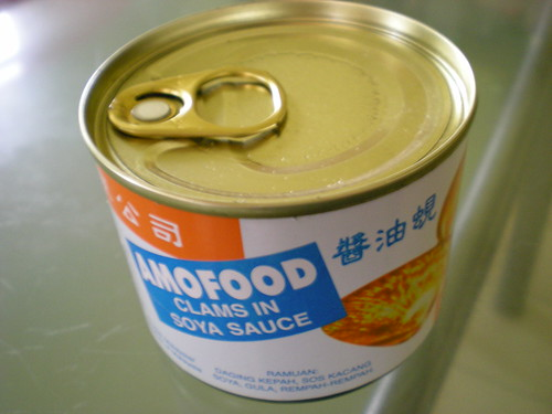 AmoFood canned clams in soya sauce