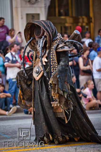 Elaborate Monster Cosplay at the 25th Anniversary Dragon Con Parade 2011 on Peachtree Street in Downtown Atlanta