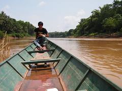 Boat across Nam Khan River, Luang Prabang