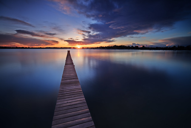 Sunrise over Holt's Point Jetty