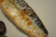 Detail: Flame grilled Cornish mackerel, Japanese flavour