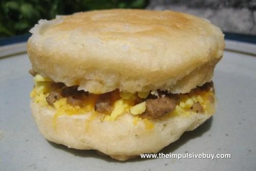 Pillsbury Sausage & Cheese Grands! Biscuit Sandwiches Closeup 1