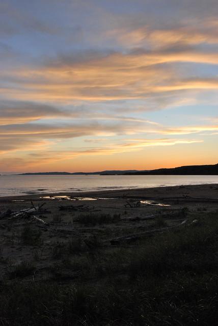 neys beach at sunset