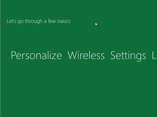 Windows 8 Installer Personalise networking