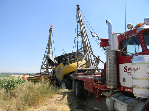 With 2 tow trucks
