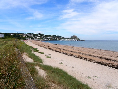Looking back to Gorey and Mont Ogrueil