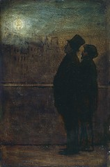 Daumier, Honoré  (French, 1808-1897)  - The Night Walkers  - c 1845