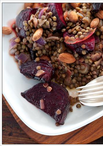 beet & lentil salad