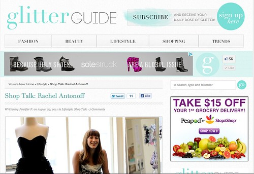 PRESS: The Glitter Guide-- Rachel Antonoff 1