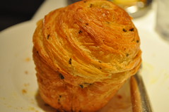 bread detail: roasted garlic brioche