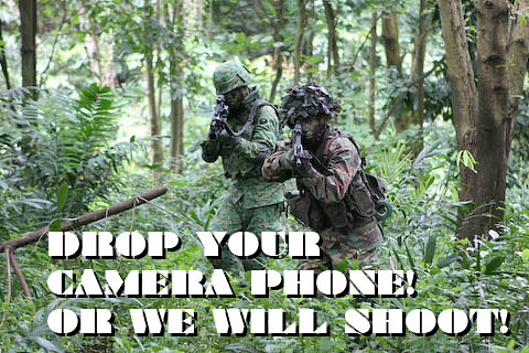Don't play play! Camera phones are very dangerous to national security!