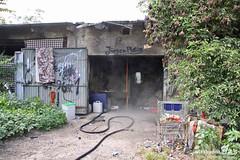 Feuer Abrissgebäude Bahnhof Kastel 16.08.11