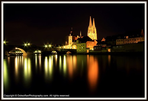 Regensburg , Reflections by Dolwolfian