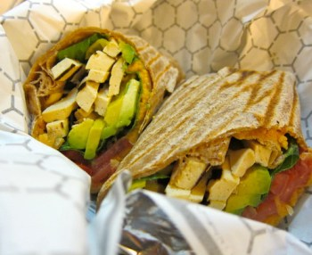 Hummus & Avocado wrap @ Terri