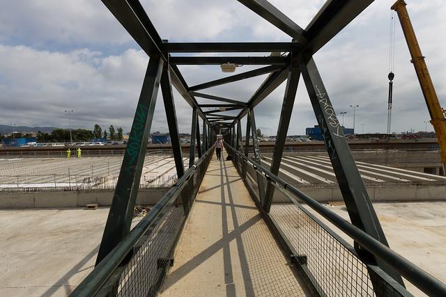 Triangle ferroviari - Detalle de las vigas - 30-08-11