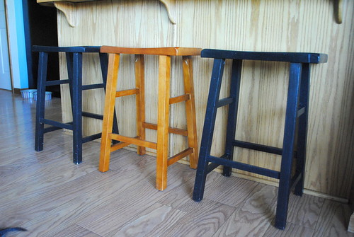 Stamped stools- before