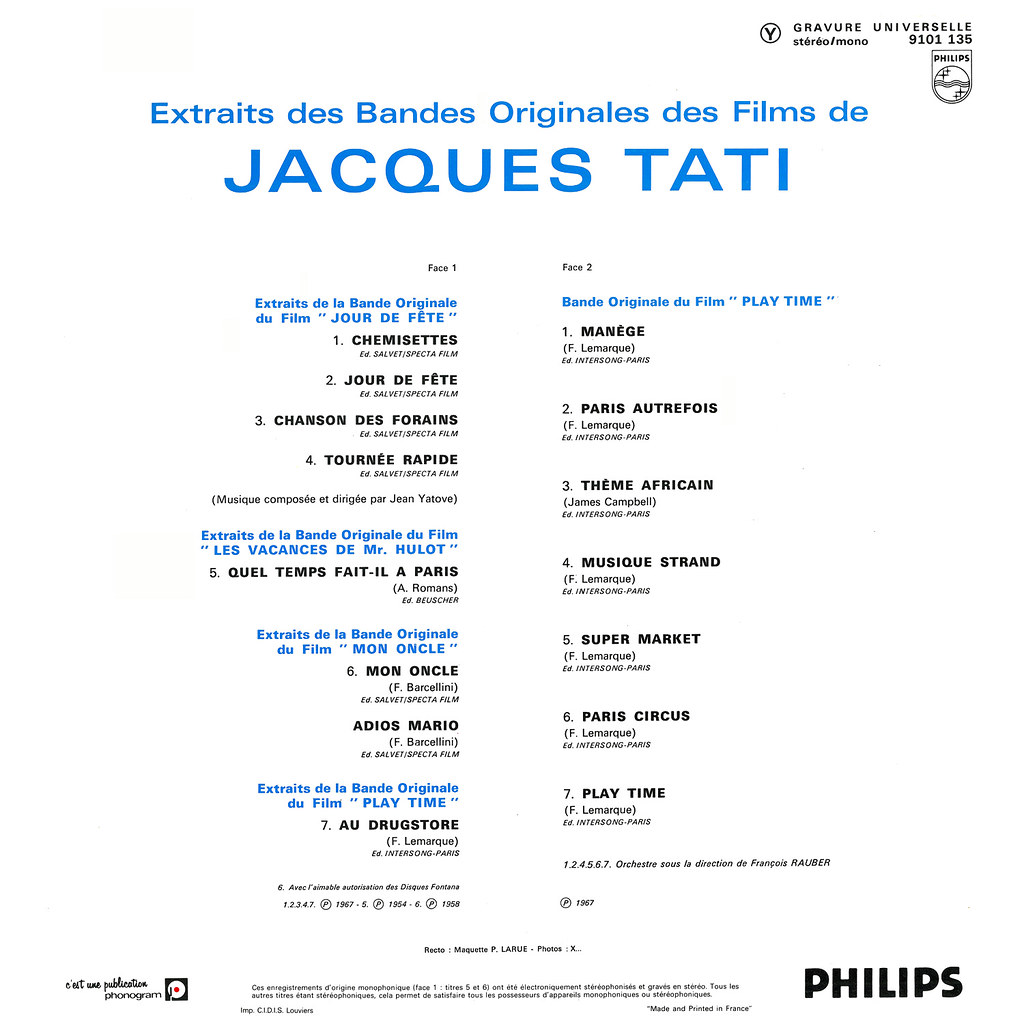 Various Artists - Extraits des Bandes Originales des Films de Jacques Tati