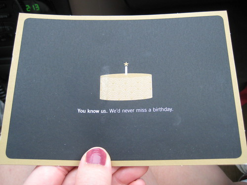 Starbucks birthday coupon