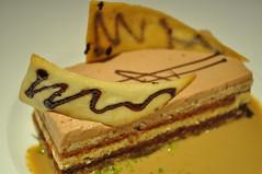 dessert: gateau aux chocolats, sauce café