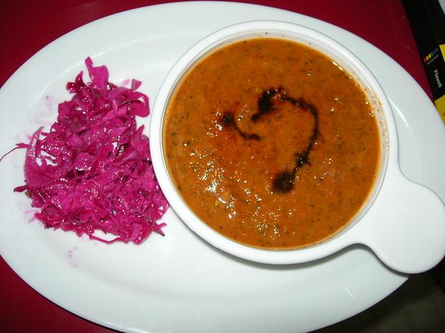 Modavia Tomato Soup and Fennel Cabbage Slaw