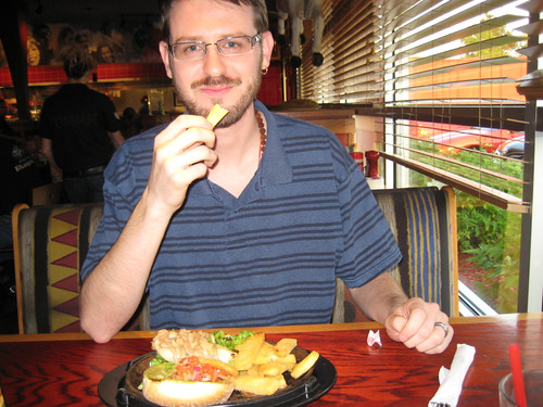 Craig with dinner