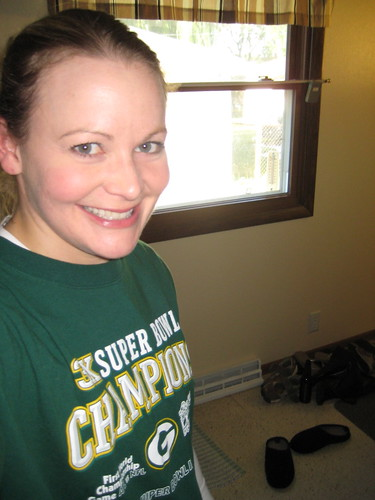 me in a Packer shirt