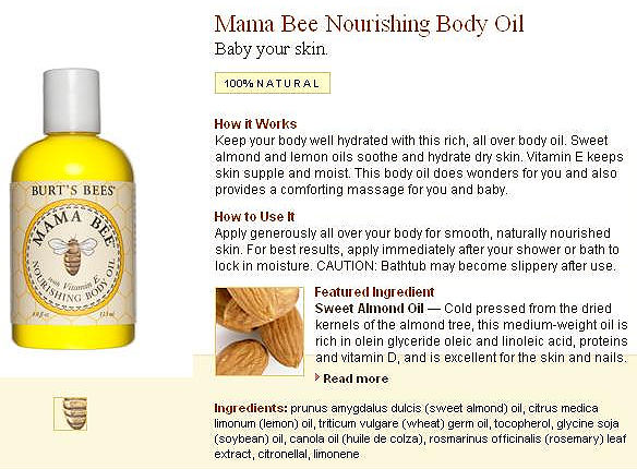 2011 Aug 005 Burt's Bees Nourishing Oil for eczema