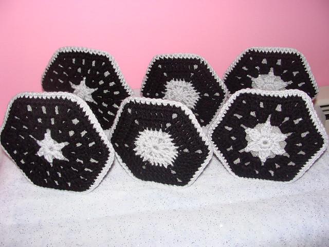 Crochet Granny Square Tie Fighters