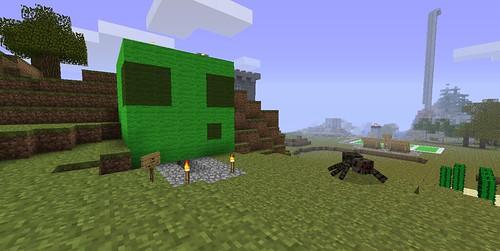 The entrance of my slime farm.