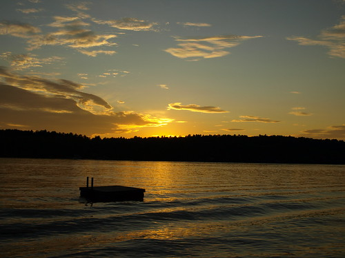 Lake Dunmore Sunset by aposeidonadventure