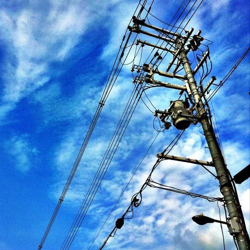 久々に、電柱萌え~♪