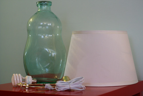 Glass Bottle Lamp: Supplies