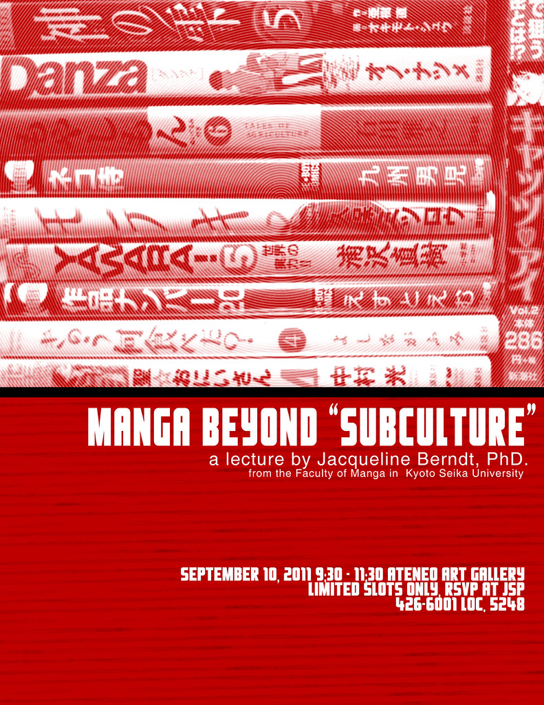 Manga and Art Manga Beyond Subculture Lectures by Prof. Jacqueline Berndt