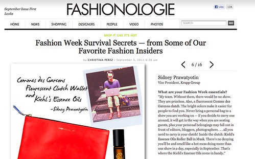 PRESS:  Fashionologie-- Sidney Prawatyotin