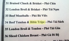 Mmmm, Bible Tripe!
