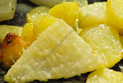 cake au cantal et pommes de terre