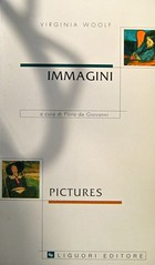 """Virginia Woolf; Immagini / Pictures; Liguori editore (Angelica); [resp. graf non indic.]; alla cop.: """"in b. a sx: Vanessa Bell: V. Woolf in a Deckchair, 1912; in a. a dx: V. Bell: V. W., 1911-12"""". copertina (part.)"""