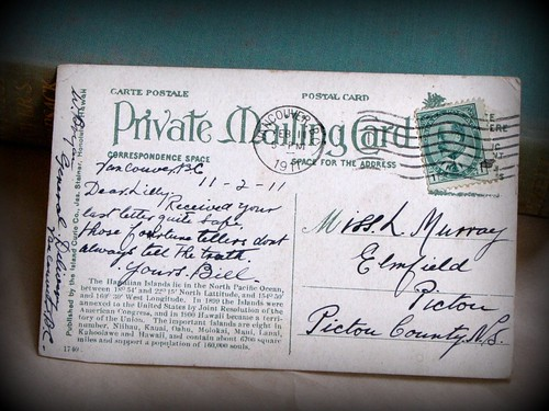 One hundred year old postcard