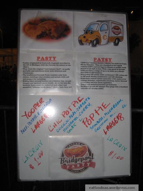 Bridgeport Pasty Signage