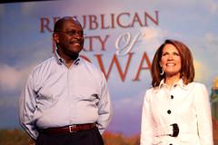 Herman Cain & Michele Bachmann