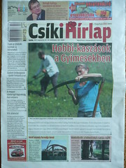 Romanian newspaper front page