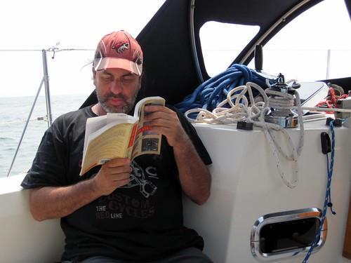 Alan enjoys sailing