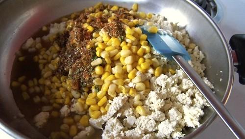 Spicy Corn & Tofu Gratin