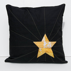 yellow star pillow