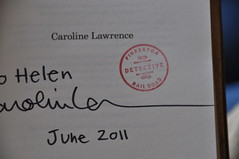 Caroline Lawrence signature