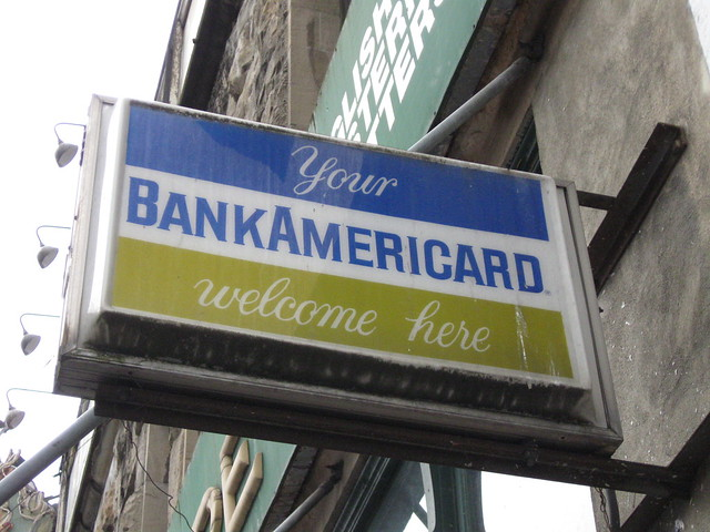 Your BankAmericard welcome here