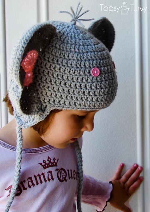 Crochet Childrens Elephant Hat Im Topsy Turvy